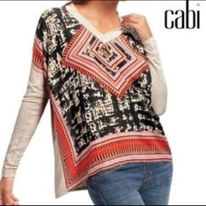 CAbi 100% Front Scarf Top